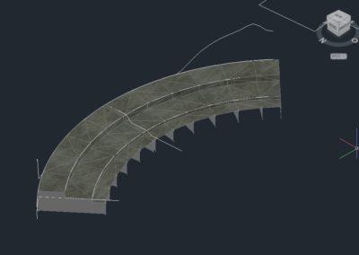 Briglia progettata con Civil 3D