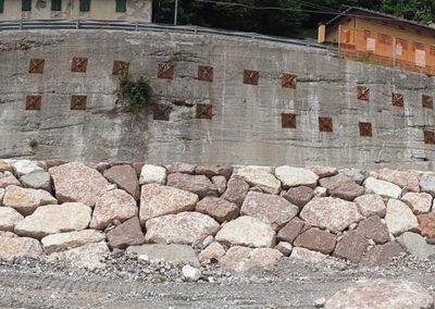 Muro lungo il fiume Piave